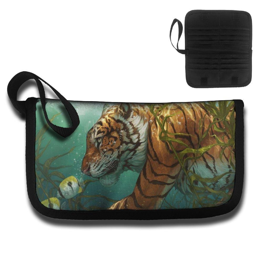 Gili Tiger Walking In The Water Travel Passport /& Document Organizer Zipper Case