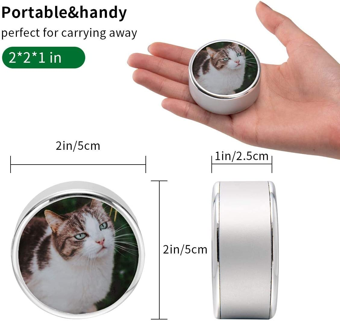 Can Be Charged and Data Transmission Synchronous Fast Charging Cable-View of Short-Haired Brown and White Cat Round USB Data Cable Charging Cable