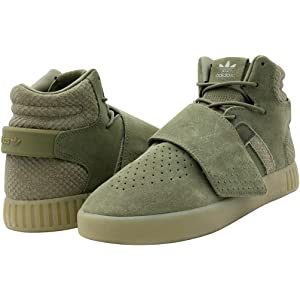 Adidas Green Women's Tubular Strap Suede & Leather Sneaker