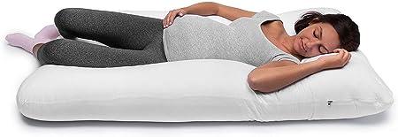Almohada para embarazada (130 x 80 cm) | Almohada para lactancia materna | Almohada de embarazo y maternidad | Cojín embarazada gigante, cojín lactancia gemelar | Cojín de lactancia