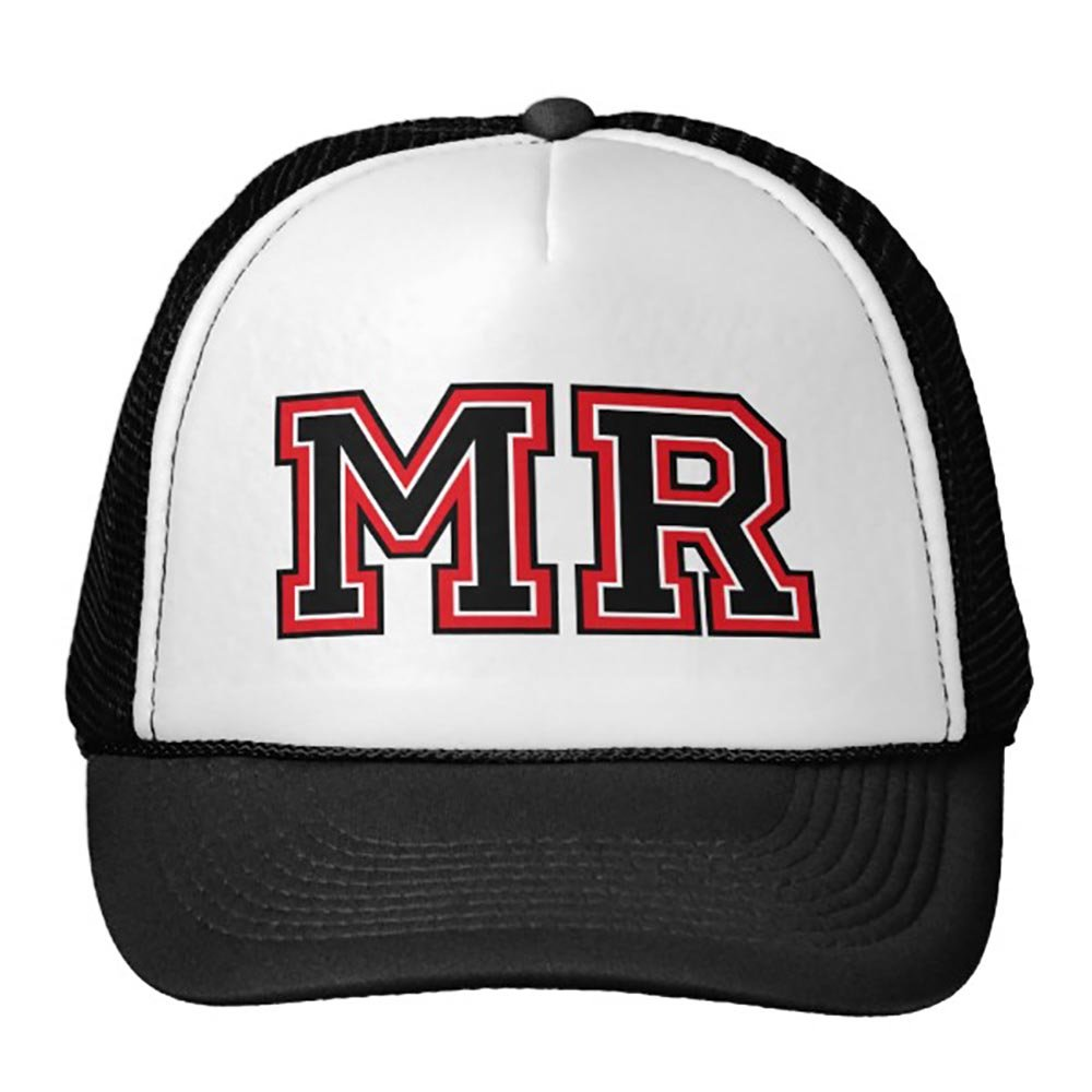 Funny Monogram Mr Initals Trucker Hat Baseball Mesh Caps Black