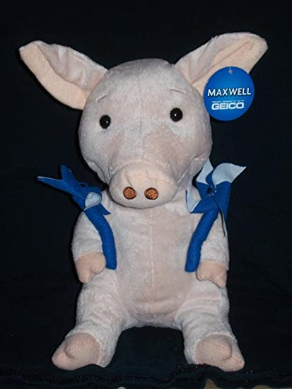 amazon com geico maxwell 10 5 plush pig toys games