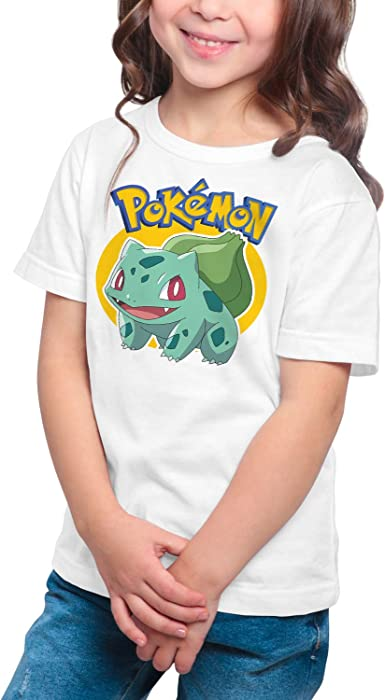 Camiseta Niña - Unisex Pokémon, Bulbasaur: Amazon.es: Ropa y accesorios