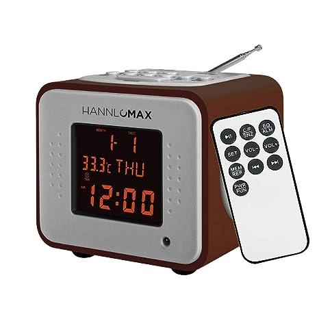 Amazon.com: Hannlomax HX-113CR Wooden Mini MP3 Stereo System ...