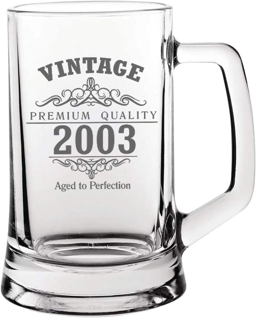 Vintage 2003 18th Birthday Pint Glass Tankard