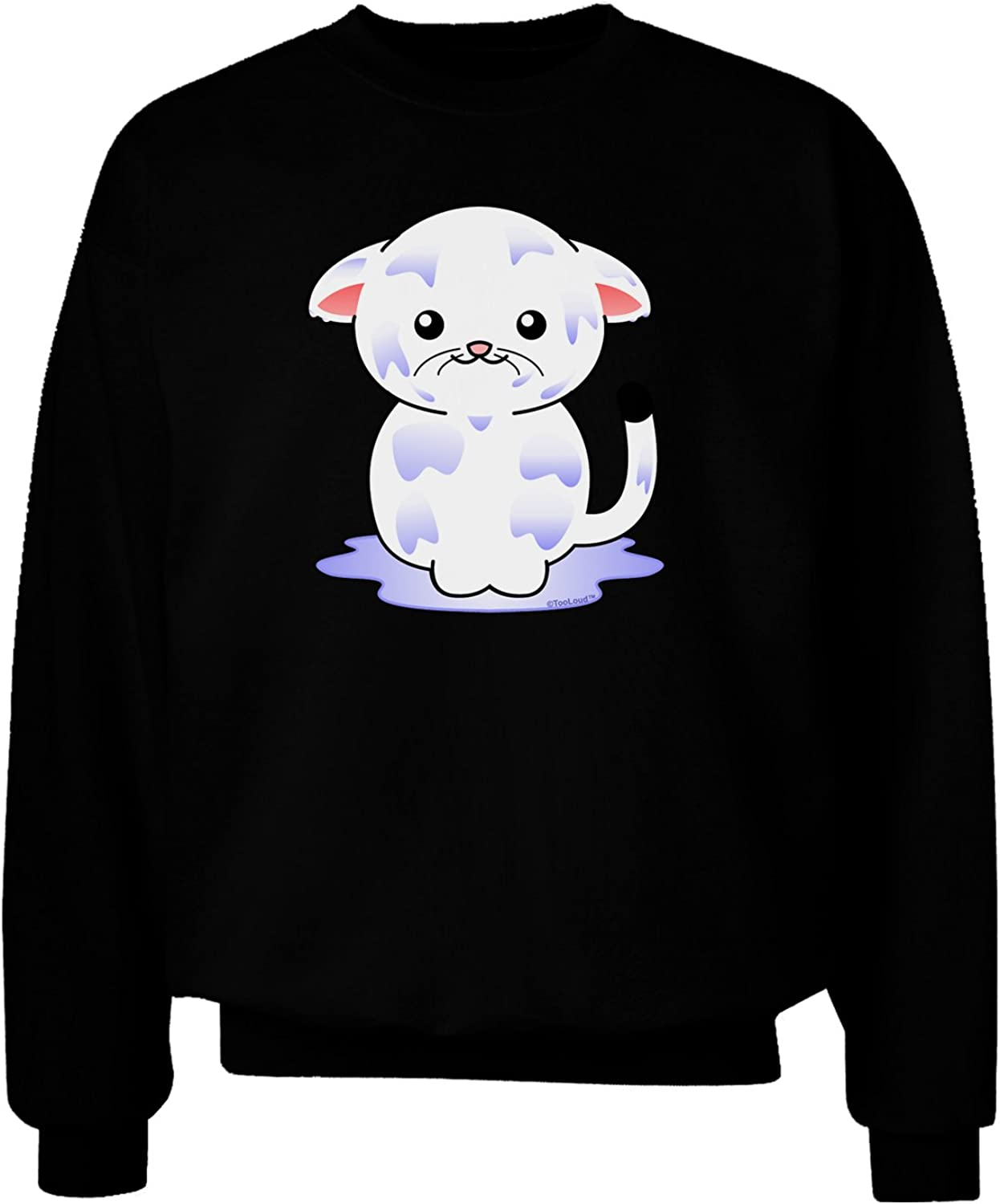 TooLoud Wet Pussycat Adult Dark Sweatshirt