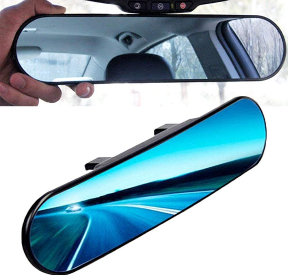 Chytaii Car Rear View Mirror Universal Car Interior Mirror Panoramic Wide Angle Clip on Car Rearview Anti-Glare Titanium Mirror Wide Angle