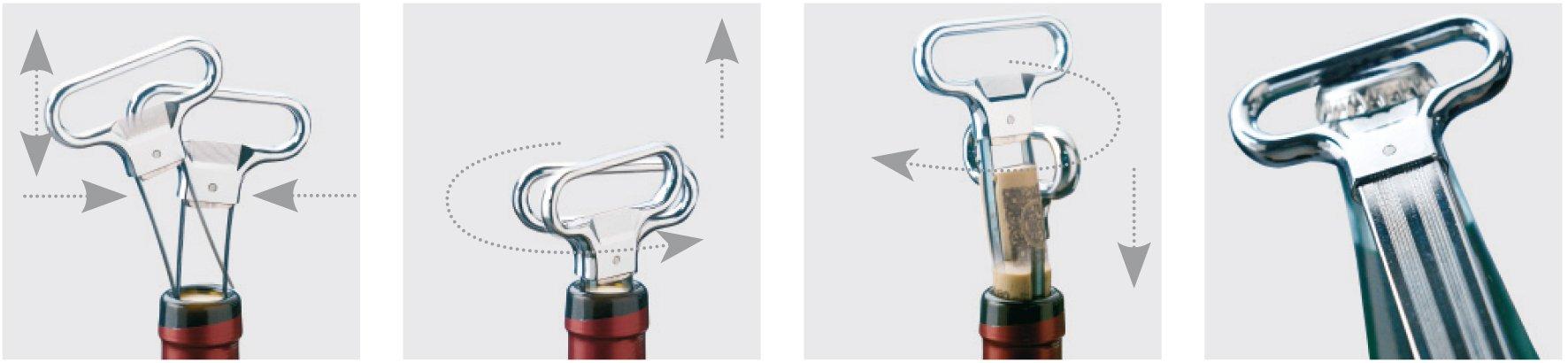 Monopol''Ah-so'' Bottle Opener and Corker by Westmark (Image #1)