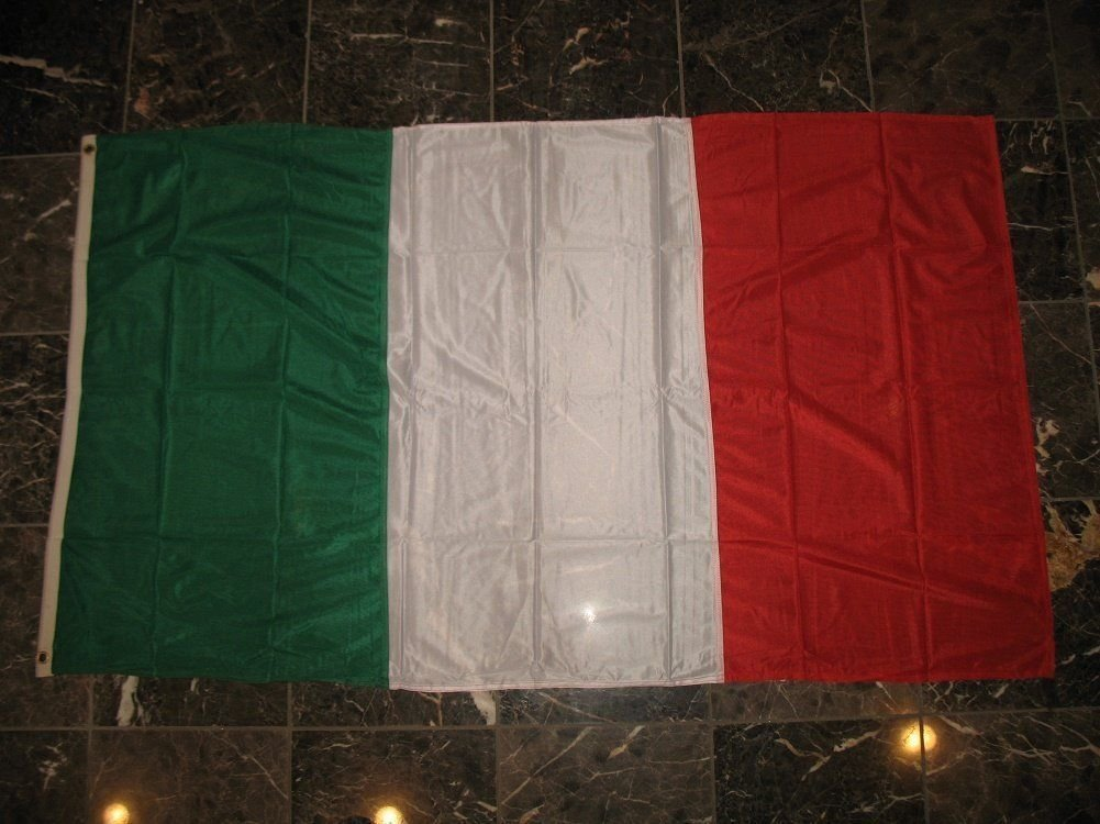 3X5 Embroidered Sewn Italy Italian Tricolor Nylon Flag 3'X5' Banner