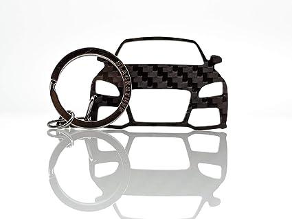 BlackStuff Llavero De Fibra De Carbono Cadena De Claves Compatible con TT MK2 8J 2006-2014