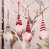 PINPOXE Gnomo de decoración navideña, Gnomo navideño, Remolque navideño, Decoración navideña decoración de Ventanas…