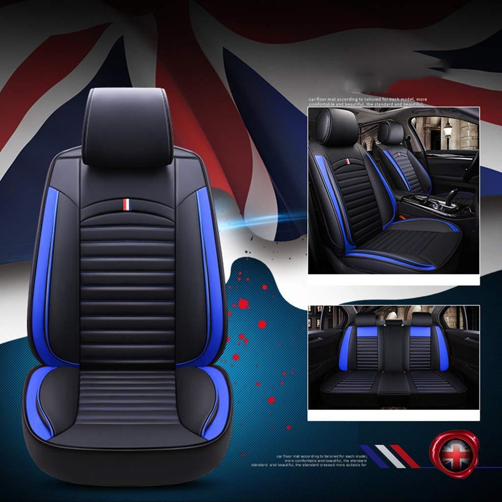 Auto Seat Cushion Auto Seat Cover Auto Interior Decoration,Universal Summer Eis Silk Auto Seat Cover, Auto Seat Full Leather Auto Seat Cushion (Color : Blue)