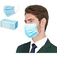 50 PCS Blue Disposable Face Mask, 3 Layers Filter Non-Woven Anti Dust Ear Loop Comfort (Blue 50 pcs)