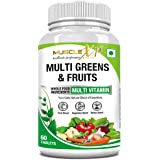 MuscleXP Multi Greens & Fruits Multivitamin with Fruit, Vegetable & Herbal Blend - 60 Tablets