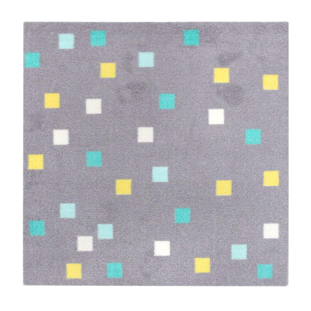 Carpet Floor Mat The Living Room Bedroom is Covered with Children's Carpets. (Color : Gray Square)