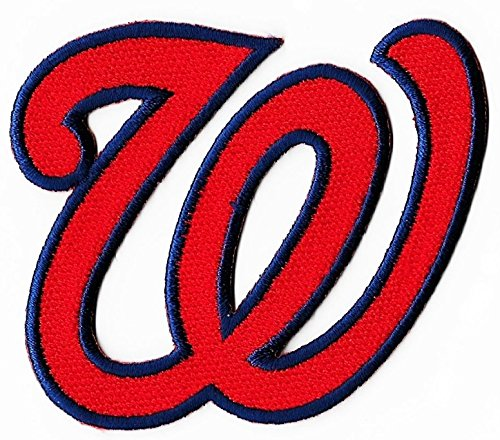 lowest price e4df7 6de80 low price washington nationals w logo baseball mlb embroidered iron on  patches hat jersey 3 1
