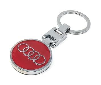 Amazoncom Audi KeyChain Red Both Side Audi Brand Logo Special - Audi keychain