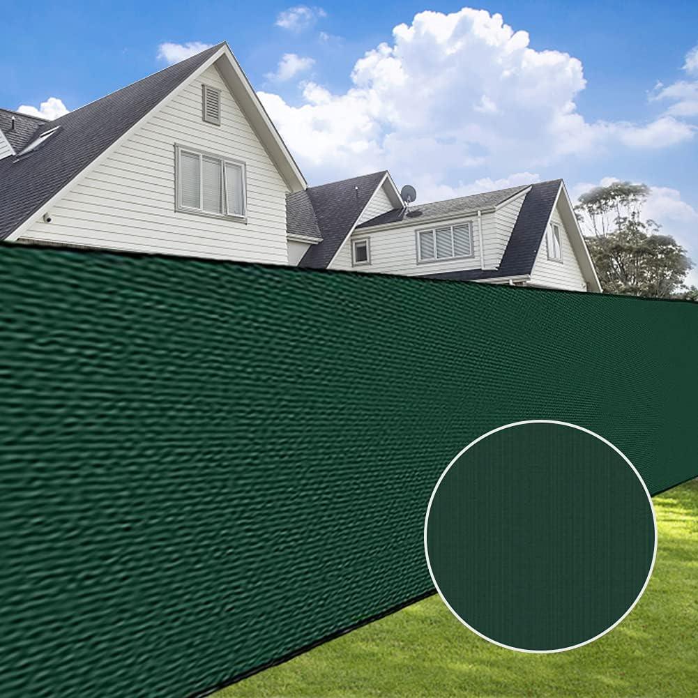 Eurmax Fence Privacy Screen, 6' x 50' Heavy Duty Garden Fence Mesh Shade, 90% Blockage Green Mesh Shade Net Cover for Garden, Yard, Wall, Backyard, Chain Link Fence