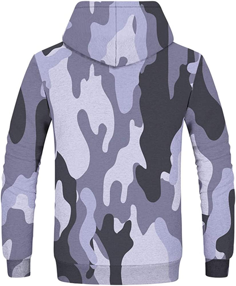 Autumn Winter Hoodies Camouflage Printing Long Sleeve Hoodies Sweatshirt,Green,M,United States