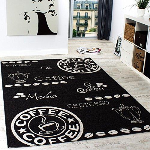 Teppich Modern Flachgewebe Sisal Optik Küchenteppich Anthrazit Grau, Grösse:80x200 cm