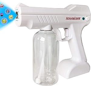 MATIKOO Nano Atomizer,Handheld Rechargeable Nano Sprayer 27oz Large Capacity ULV Electric Sprayer Adjustable Fogger for Home, Office, School or Garden (White)