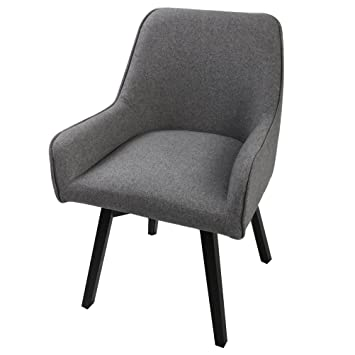 Swivel Home Office Chair Dining Room Chairs With Comfortable Seat And Black Wooden Leg For Living