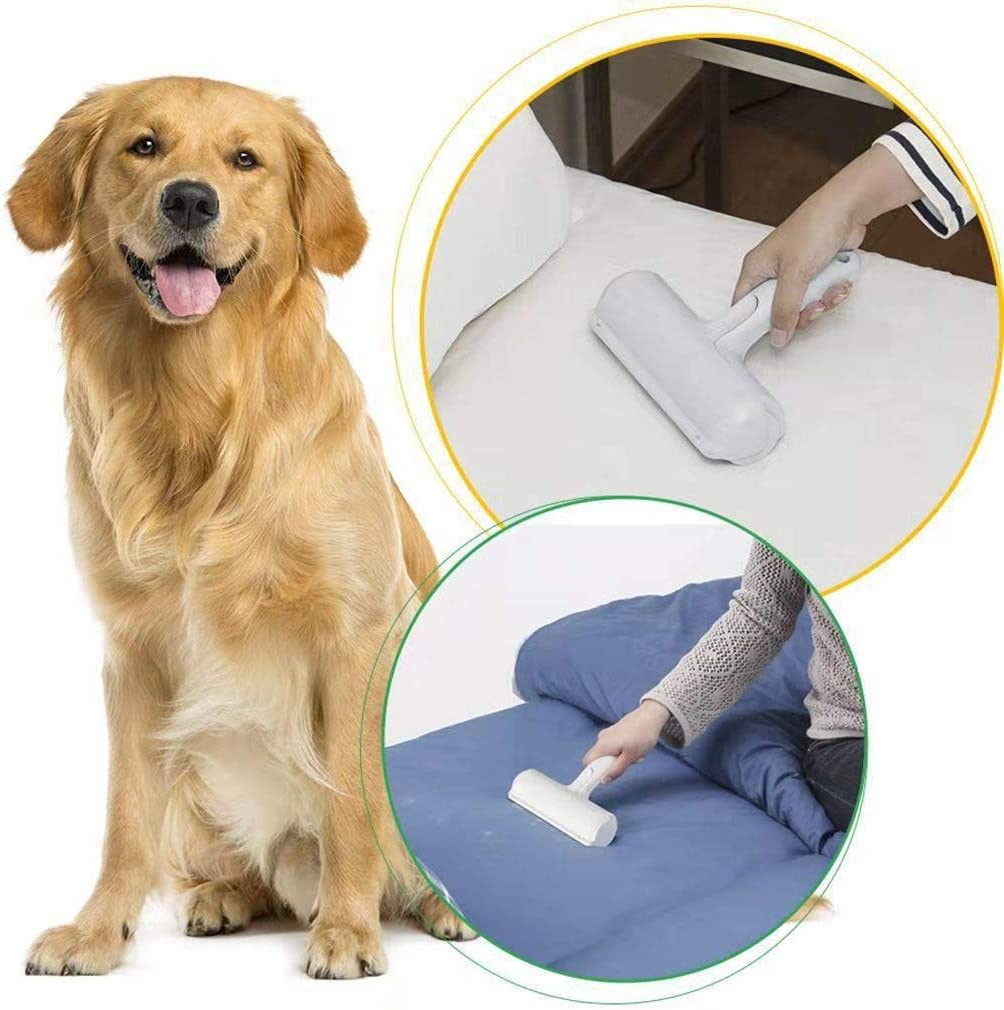 Bedding Cats and other Pet Hairs from Furniture MODEHUAYING Reusable Pet Hair Remover Roller for Furniture Remove Dogs Easy to Clean Pet Hair Removal