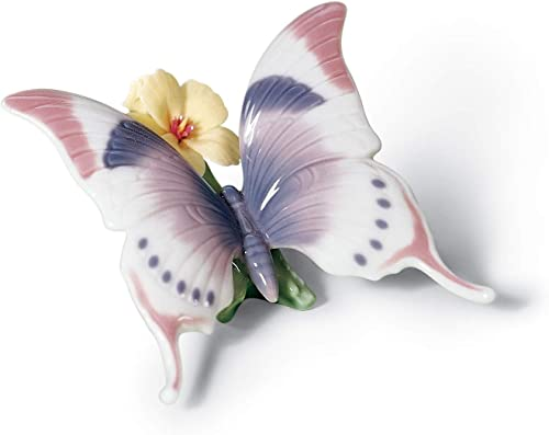 LLADR A Moment S Rest Butterfly Figurine. Porcelain Butterfly Figure.