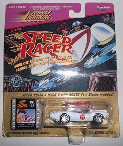 Johnny Lightning Speed Racer Mach 5 Replica Die Cast Metal Car w (Mach 5 Replica Car)