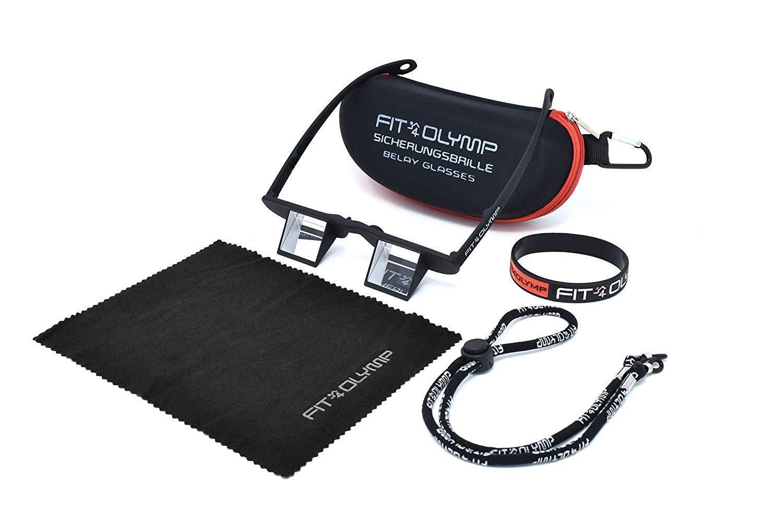 Occhiali prismatici da sicura Leggeri per Arrampicata Anche per portatori docchiali per alleggerire Il carico sul Collo FIT4OLYMP Occhiali d/'Arrampicata