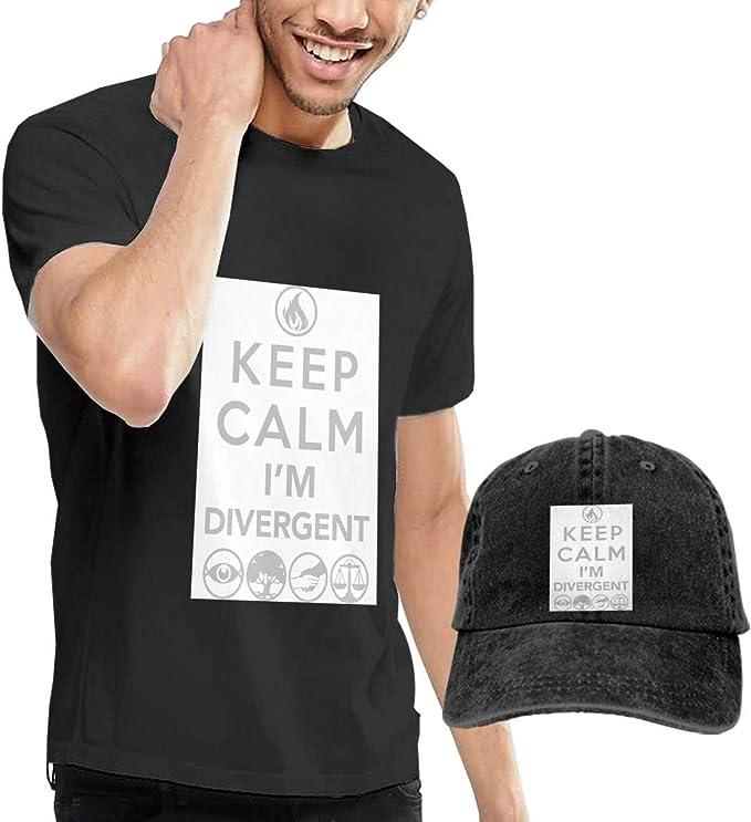 Baostic Camisetas y Tops Hombre Polos y Camisas, Keep Calm Im ...