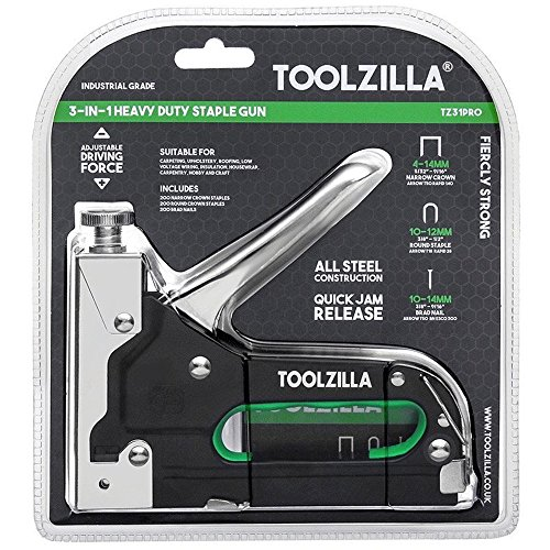 TOOLZILLA Heavy Duty Staple Gun & 600 Staple Selection Pack