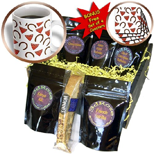 Florene - Décor III - Print of Country Bandanas And Horse Shoe Pattern - Coffee Gift Baskets - Coffee Gift Basket (cgb_185236_1)