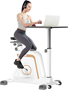 pooboo Desk Cycle Exercise Bike Indoor Cycling Bike Adjustable Magnetic Resistance Stationary Bike for Home Office