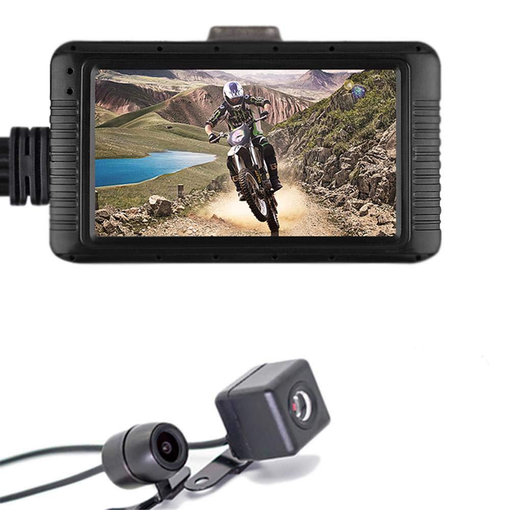 winnerruby Motorcycle Dash CAM 3.01080P HD Grabador de conducci/ón de Motos Parte Delantera y Trasera Lente Doble grabadora de Video Impermeable para Conducir al Aire Libre Viajes