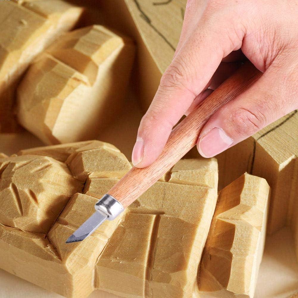 Grabado a Mano con Piedra de Molino Mango de Palo de Rosa de Acero al Carbono Alto Burin Herramienta de Talla de Madera Para Bricolaje Kit de Herramientas de Talla de Madera 4pcs