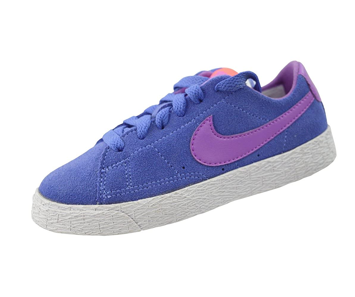 check out db6a0 6f872 NIKE Girls Kids Blazer Low Top Trainers Suede Leather Infant Trainers Shoes  (Purple, UK13 Kids)  Amazon.co.uk  Shoes   Bags