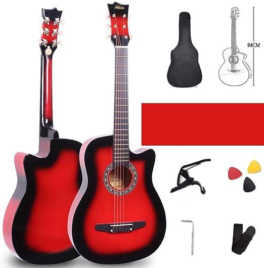 Guitarra Acústica 38 Pulgadas Guitarra Clásica Sonido Calentar ...