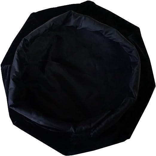 FDL Doctoral Tam Black velvet 6-sided w//Gold Bullion Tassel L-XL 23.6-25