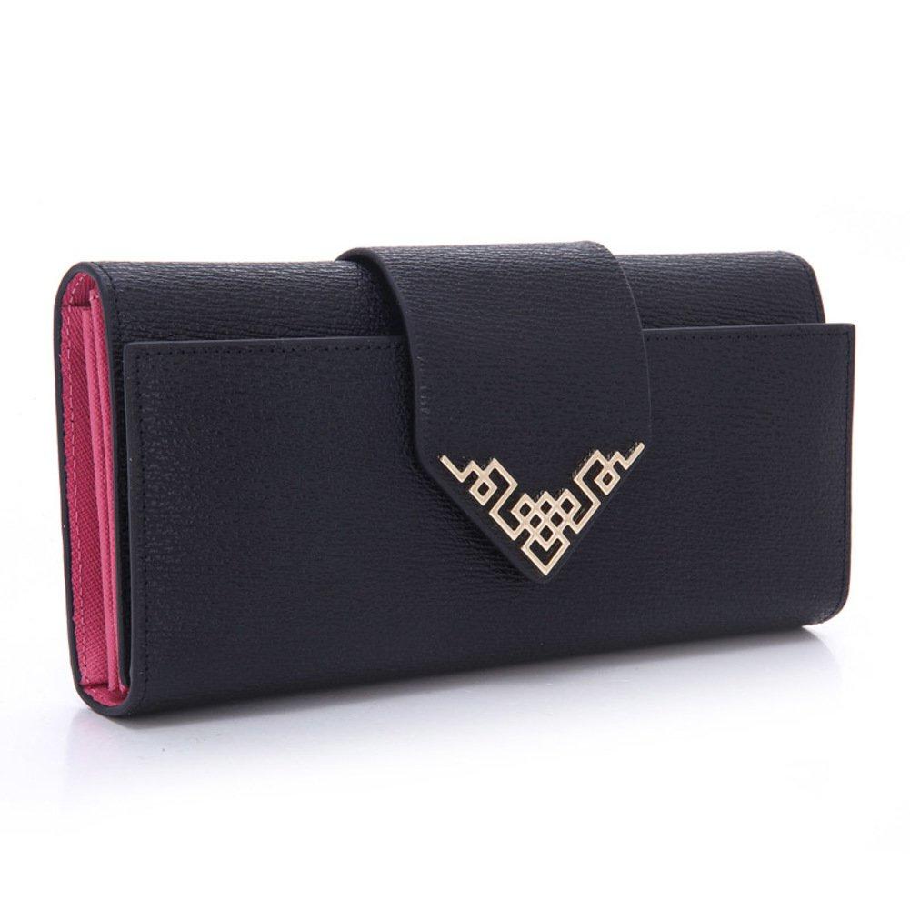 Lady 30 percent leather buckle long wallet/ bulk-women's wallet/ China wind women's hand bags-B