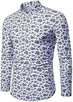 IYFBXl Camisa Vintage/Boho para Hombre - Jacquard Floral, Blanco, XXL: Amazon.es: Deportes y aire libre