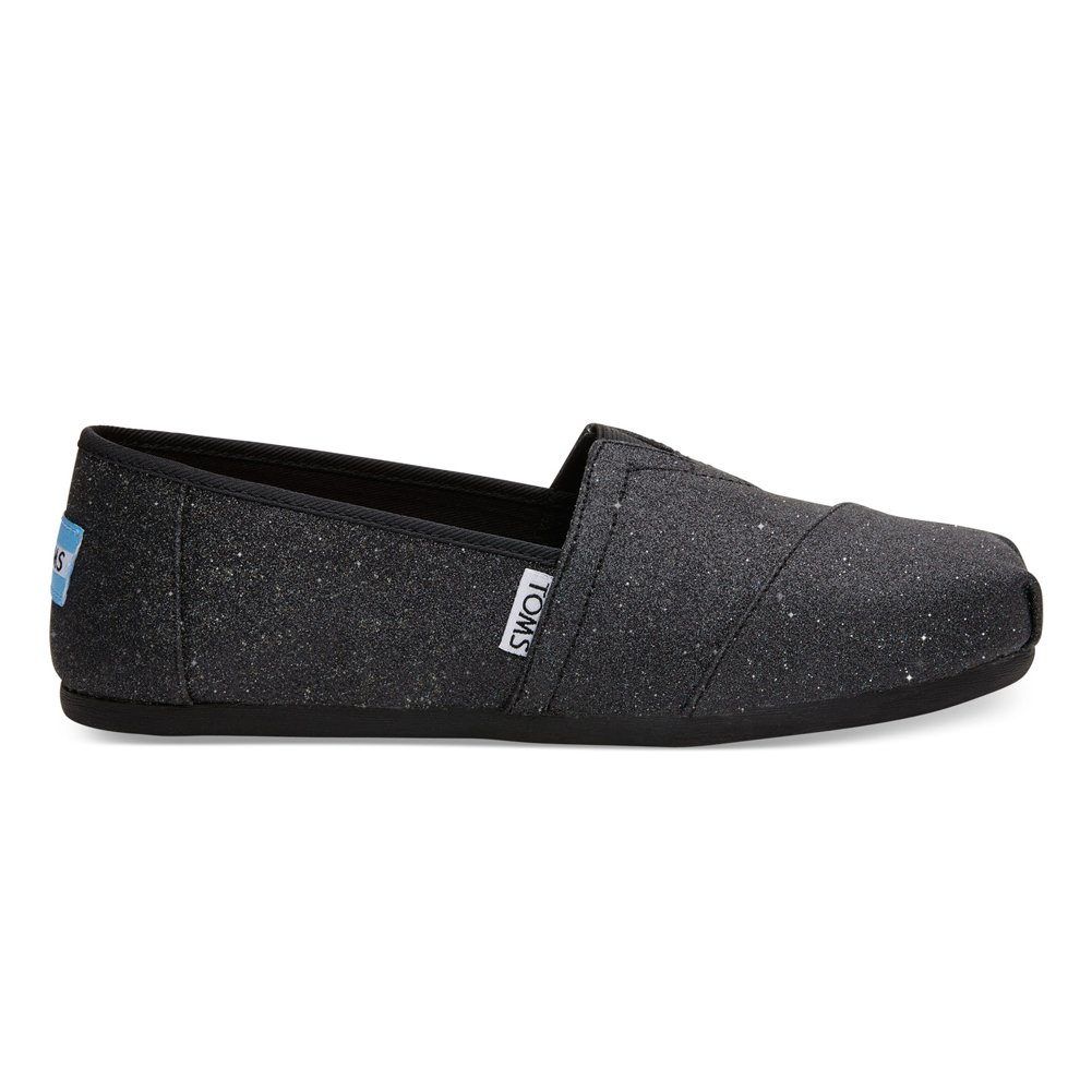 796efa76c073 TOMS 10009295 Black Crochet Glitter Alpargata Flat Black Glimmer 5.5 B(M)  US  Buy Online at Low Prices in India - Amazon.in