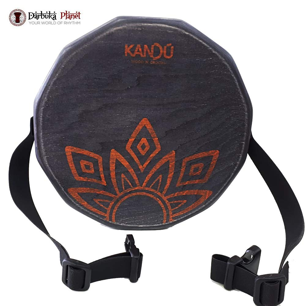 KTÄK -The First Handcrafted, Hand Drum Percussion, Two-Sound Cajón Body Snare, Portable Cajon by Kandu (Black)