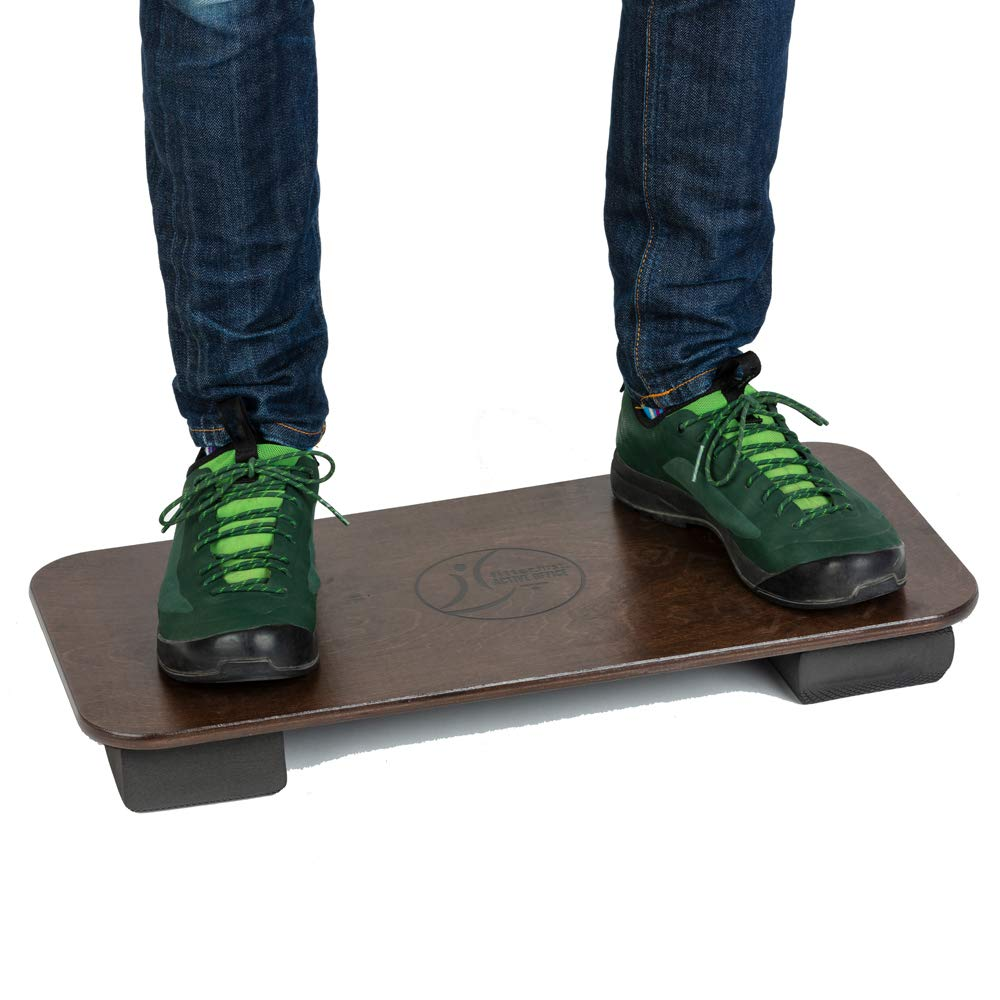 Fitterfirst Active Office Board – Anti-Fatigue Mat Alternative – Fully Adjustable Balance Board for Standing Desk