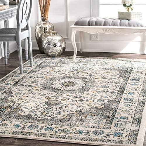 nuLOOM Verona Vintage Persian Area Rug, 8 x 10 , Grey, Gray
