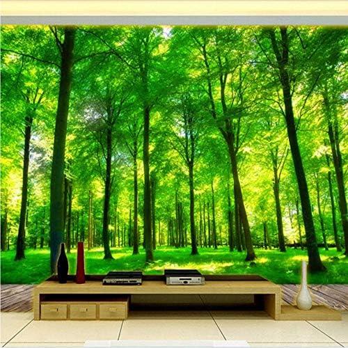 Weaeo 3D効果のカスタム写真の壁紙のリビングルームのベッドルームのインテリアの壁の背景壁の壁画の自然の風景の森の壁紙-350X250Cm