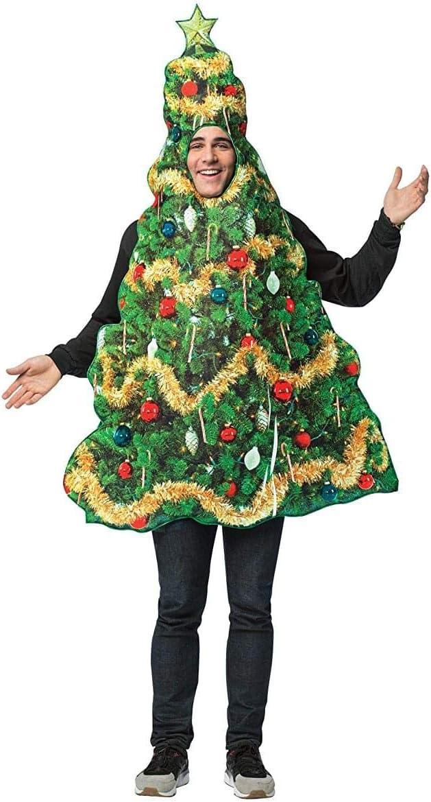 Disfraz de árbol navideño para hombre: Amazon.es: Juguetes y juegos