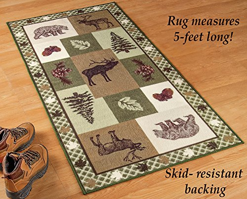 - Collections Etc Northwoods Woodland Trails Rug