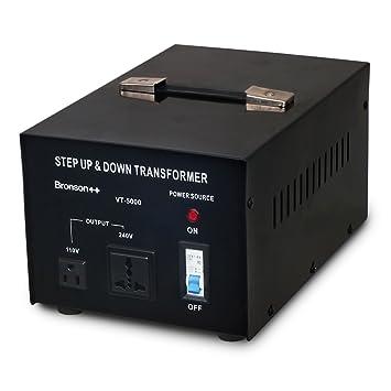 Bronson++ VT 5000 - Transformador Elevador / Reductor de Voltaje de 5000 Vatios EE.UU