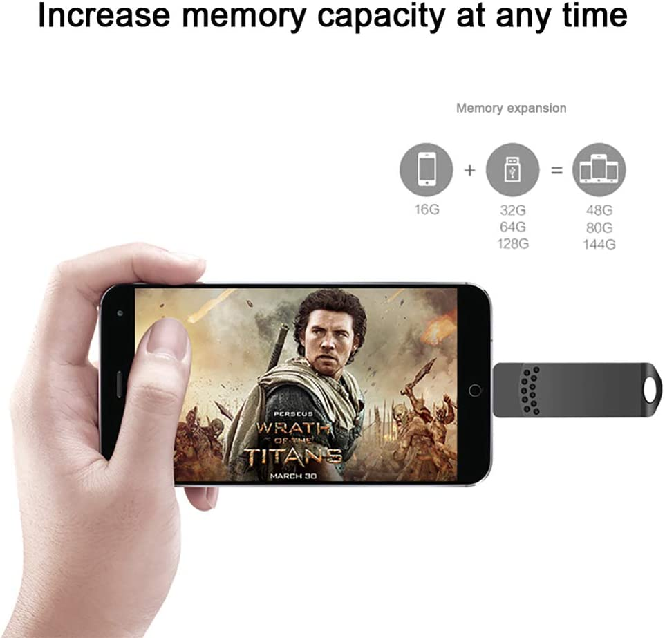 ZCP USB3.0 Flash Drive Multi-Function Mobile Phone High-Speed USB Flash Drive 3-in-1 Rotating Metal USB Flash Drive Pink USB3.0 Android Mobile Computer Universal Flash Drive Color : 128GB